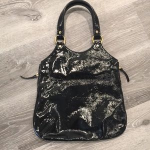 Yves Saint Laurent Bags - Yves Saint Laurent Black Patent Leather Handbag